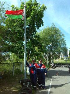 поднятие Флага соревнований